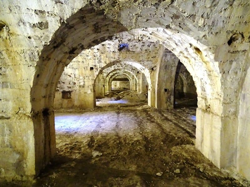The crypts of the castle of Mytilene