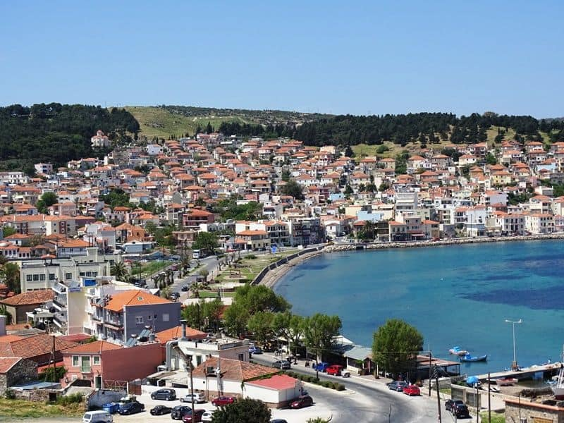 View of Mytilene town from the castle