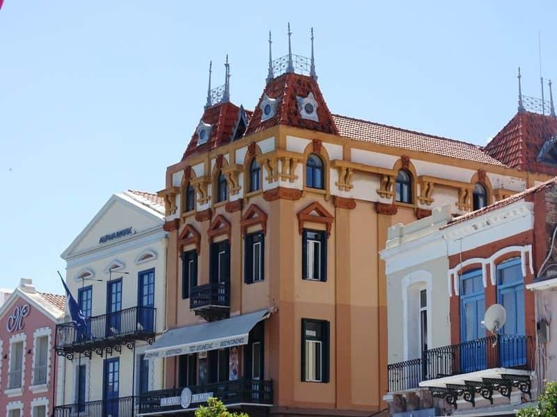 impressive houses in Mytilene town