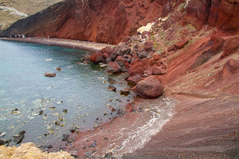 red-beach Santorini