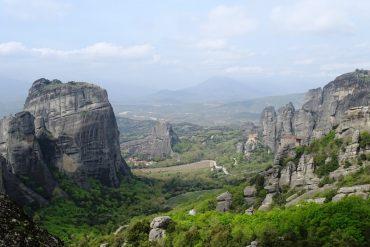 the town of Kalampaka from Meteora