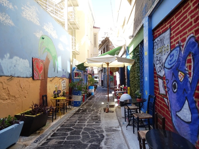 nice cafe at the alleys of Psyri