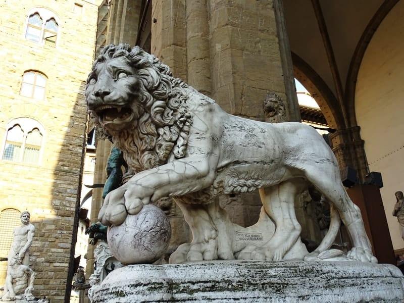 Sculptures in Piazza della Signoria Florence