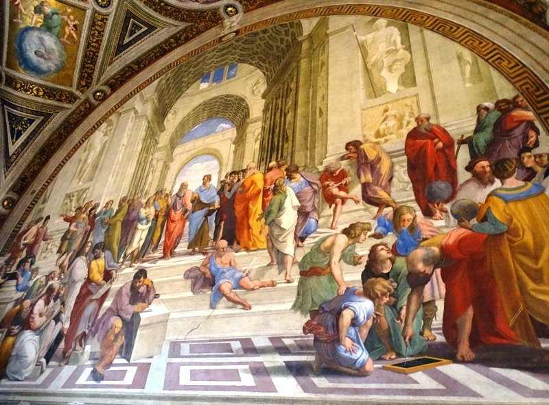 The School of Athens by Raphael at the Vatican Museum