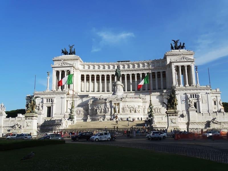 the monument of Vittorio Emanuele II