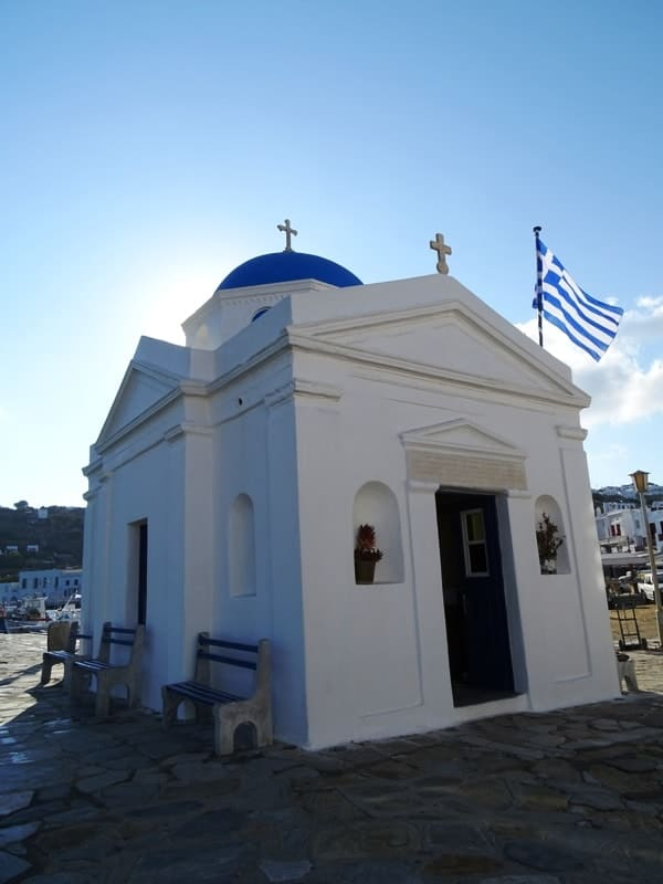 Agios Nikolaos church in Mykonos- things to do in mykonos town