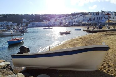 The old harbour of Mykonos