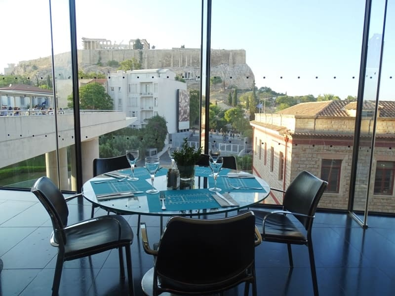 our table at the Acropolis Museum Restaurant