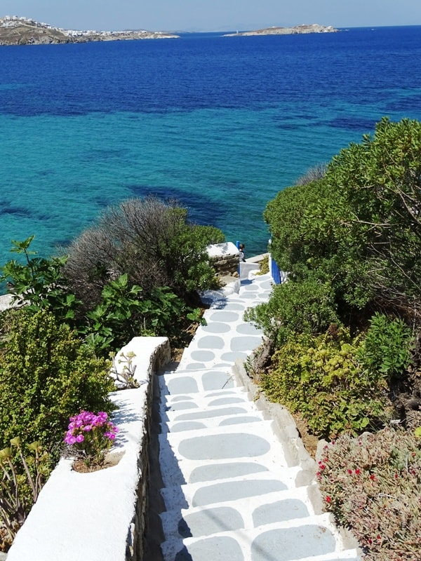 stairs leading to the sea