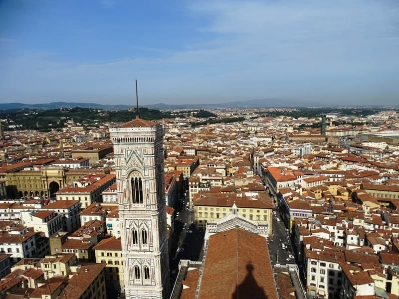 Florence from above- Giotto's Bell tower as seen from the Cupola