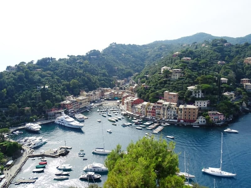 Portofino from above - 8 italian riviera cities and towns you have to visit