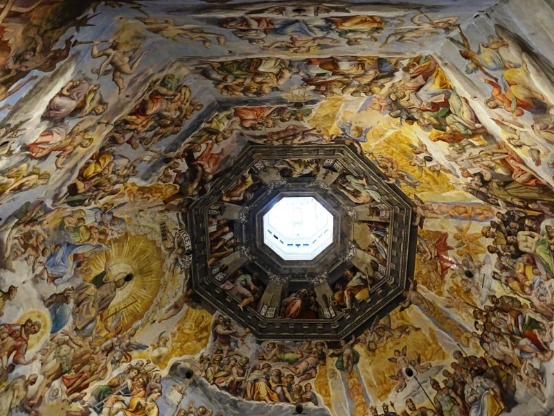 The frescoes from Duomo's Cupola in Florence