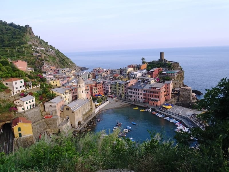 8 italian riviera cities and towns you have to visit- Vernazza from above
