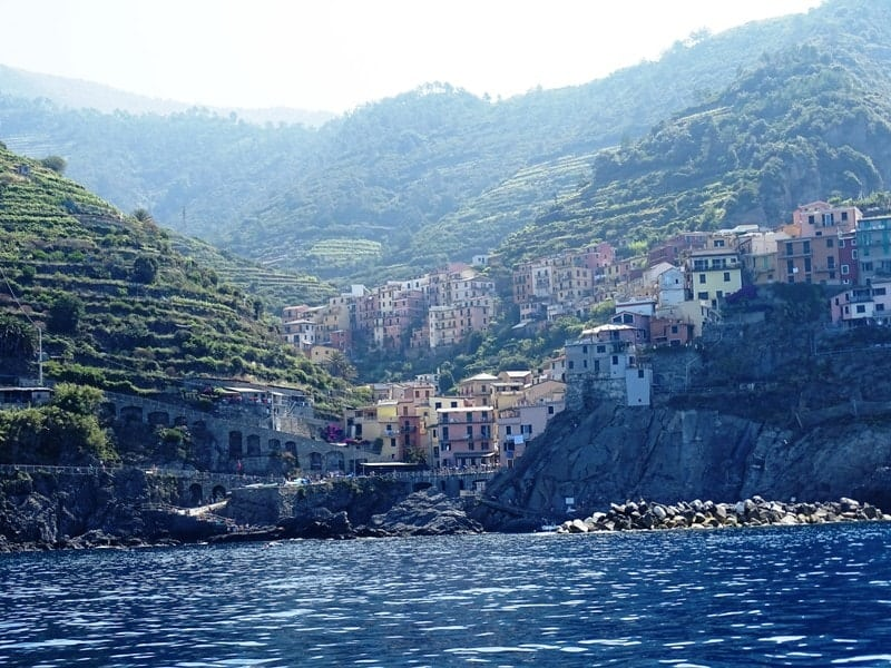 view-of-manarola-from-the-sea -8 italian riviera cities and towns you have to visit