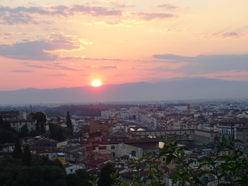sunset from Piazzele Michelangelo in Florence