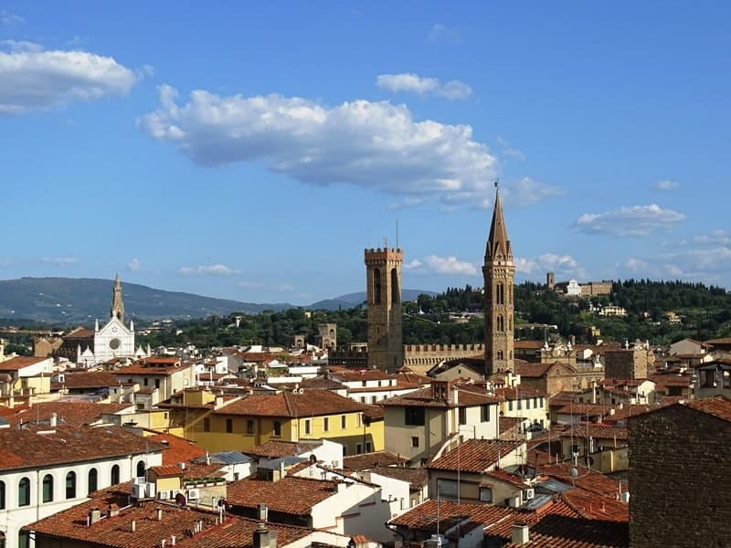 view of Florence from Giotto's Campanile