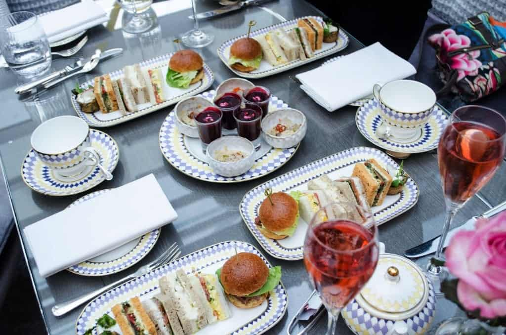 savouries and champagne at the Berkeley pret-a-portea tea