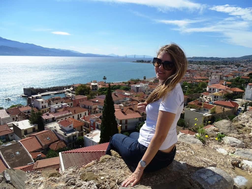 the view from the clock in Nafpaktos