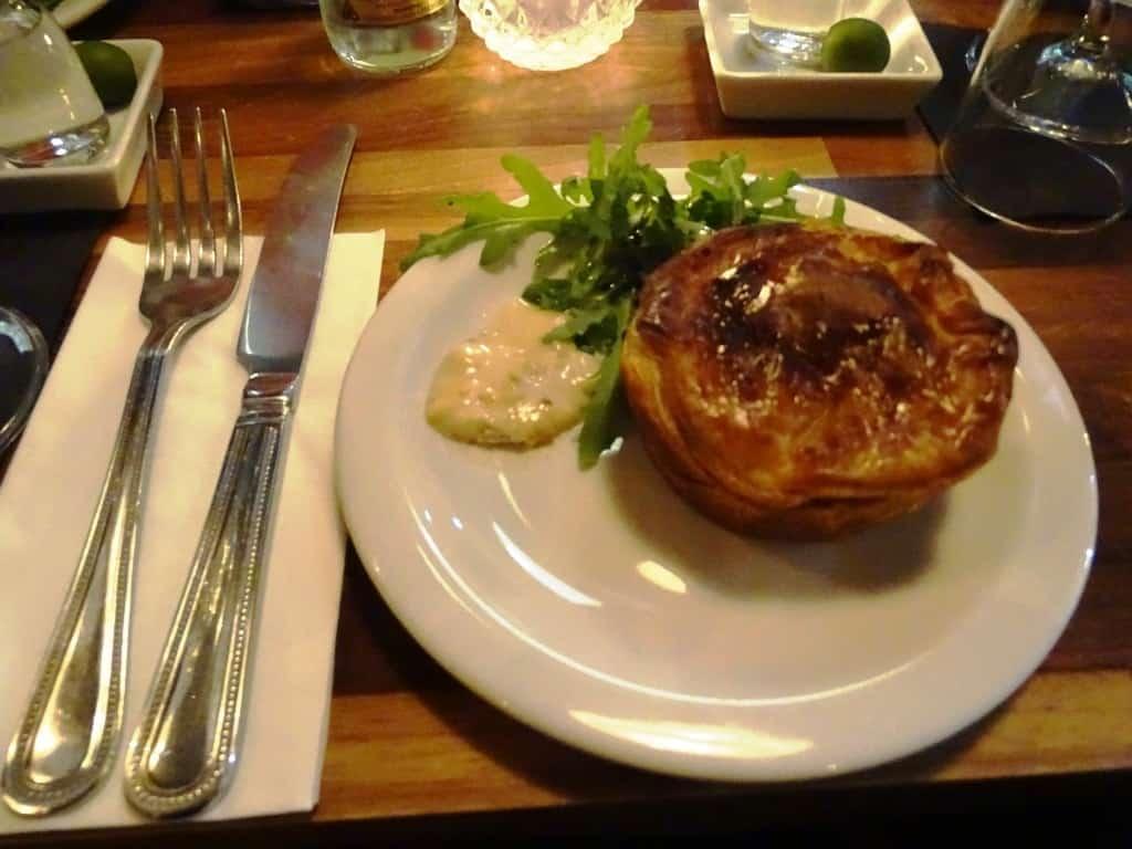 meat pie - Twilight Soho Food Tour London