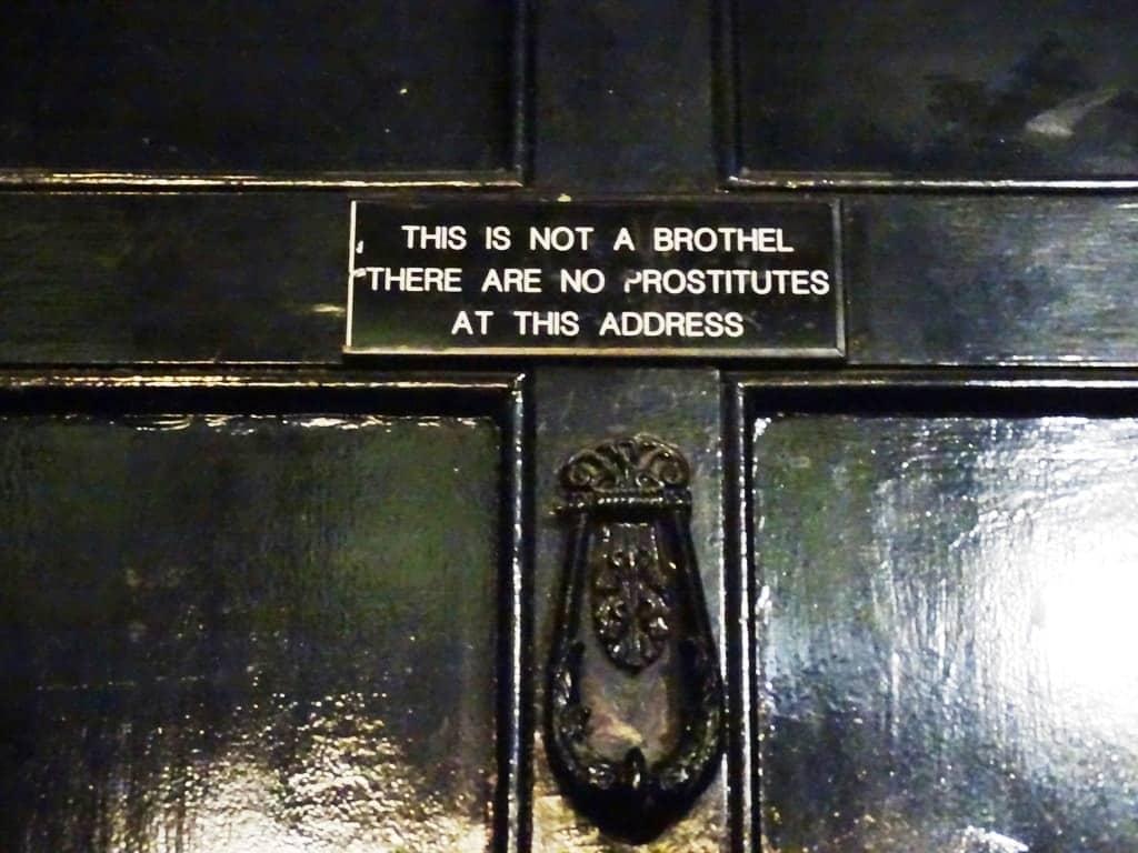 Door sign in Soho-Twilight Soho Food Tour London
