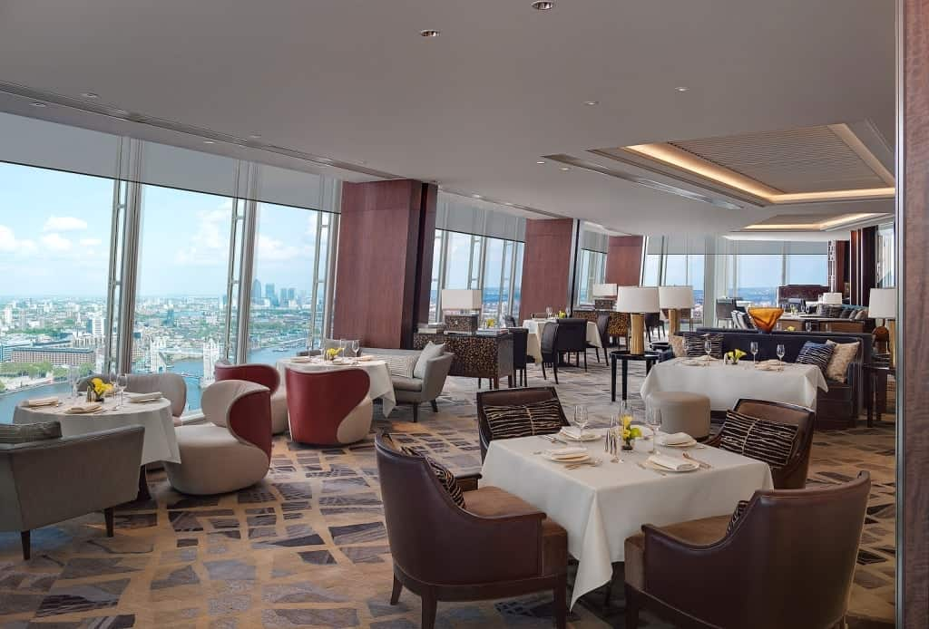 Dining at ting lounge at the shangri la hotel in london for Restaurants at the shard