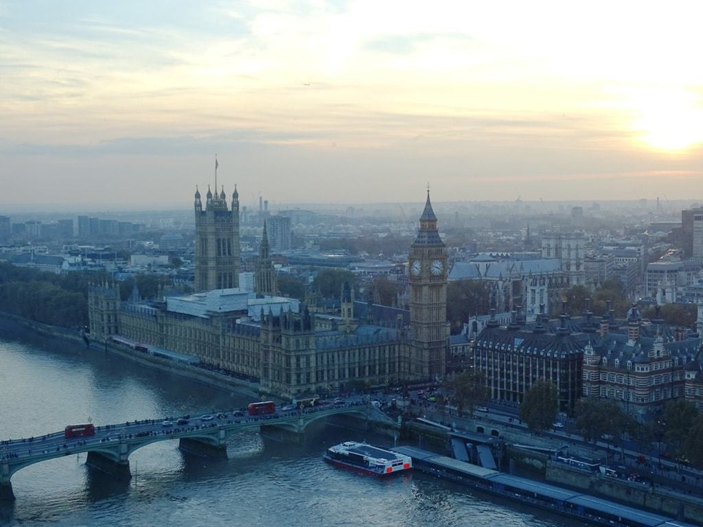Amazing view from the London Eye
