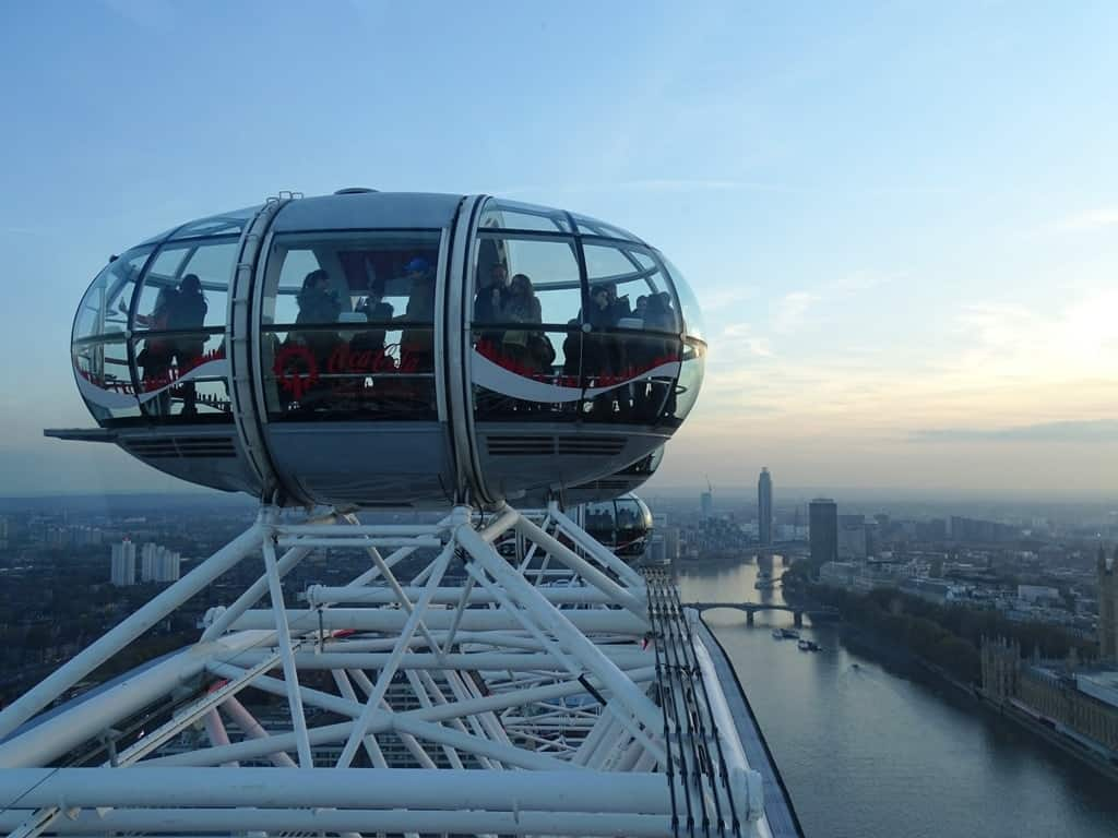 The view from the London Eye is stunning