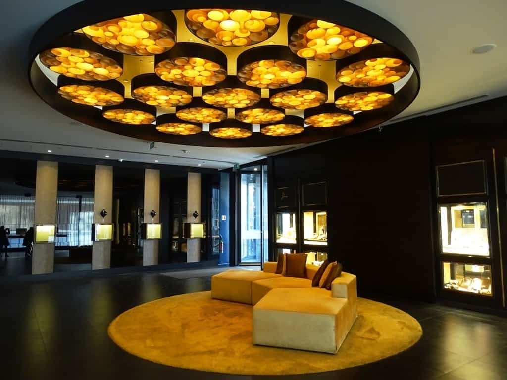 The Lobby of the Hotel in Brussels