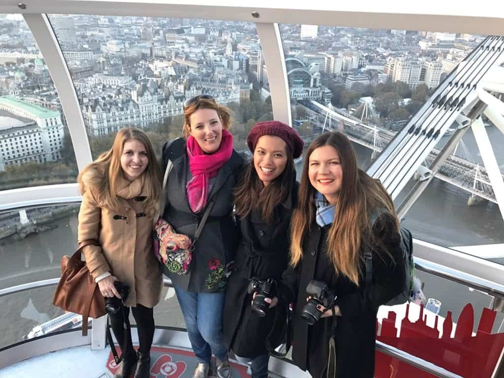 Elena, Marissa, Rebecca and myself at the London Eye