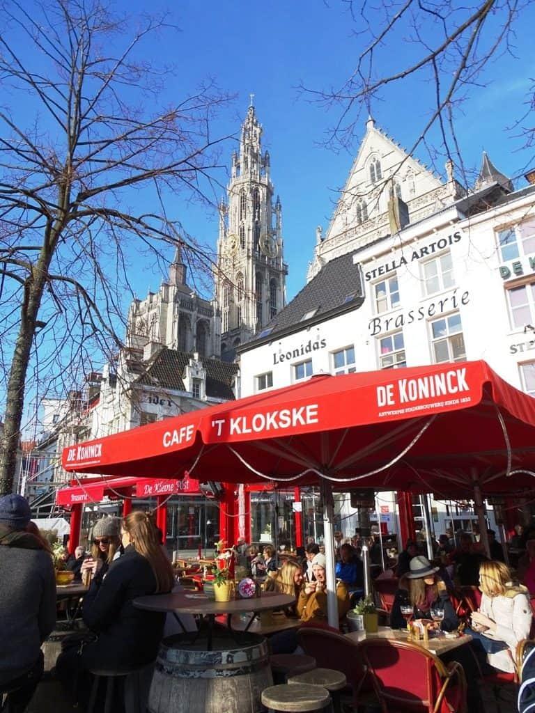 cafes at Groenplaats Antwerp Belgium