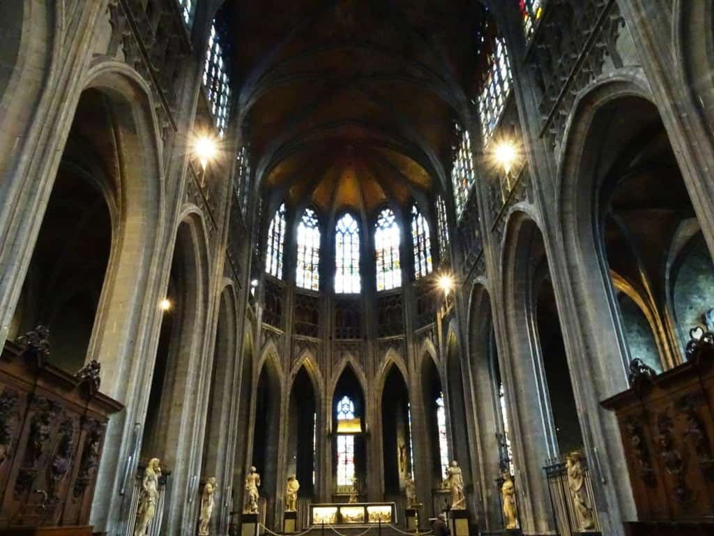 Inside the Collegiate Church of Saint Waudru, Mons