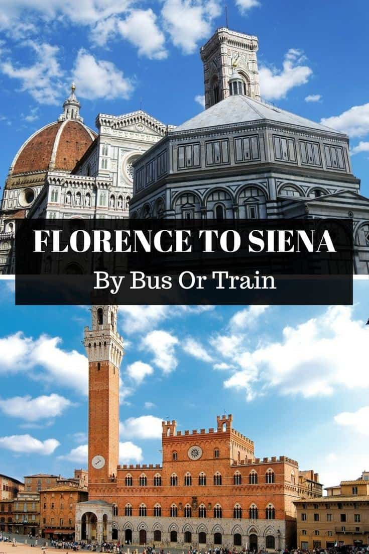 All the information you need on how to get from Florence to Siena by bus and train. Click through to read more