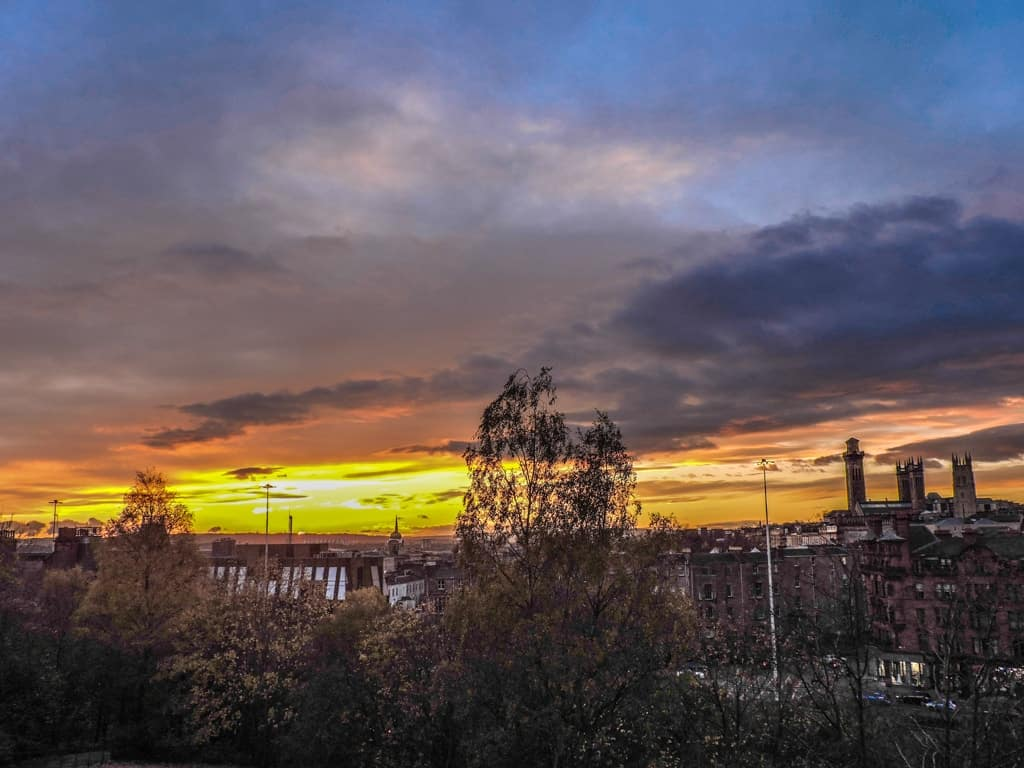 Sunset Glasgow - things to do in Glasgow