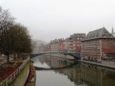 houses on river Sambre, Namur