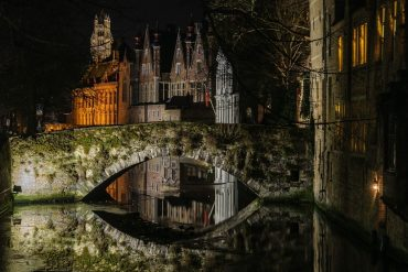 night scenery in Bruges - Ghent or Bruges