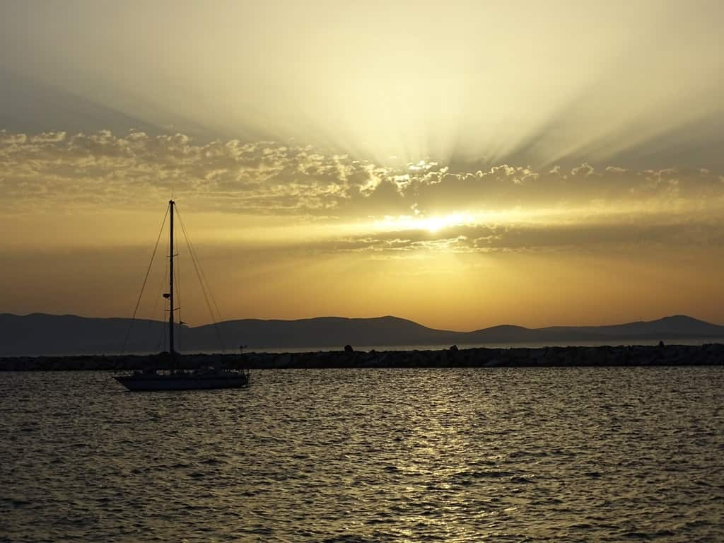 sunset in Naxos - Things to do in Naxos Greece
