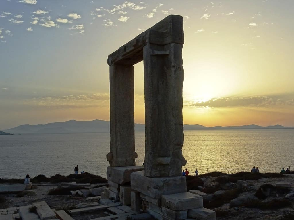 sunset in Portara - Things to do in Naxos Greece