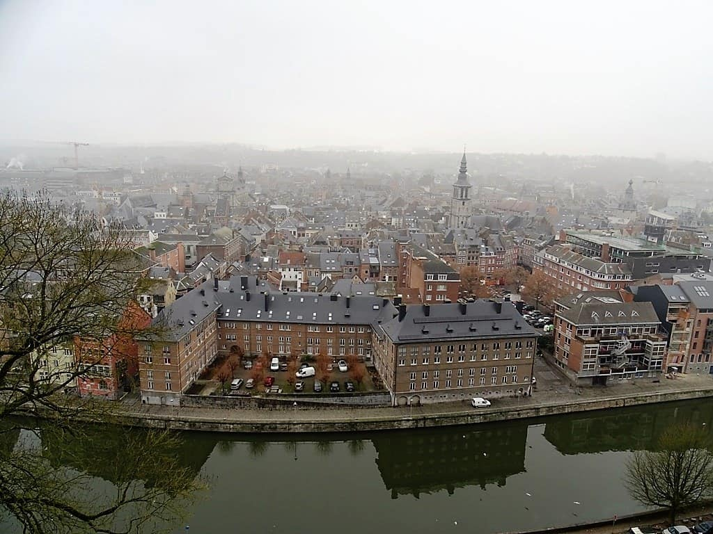 view of Namur from the Citadel