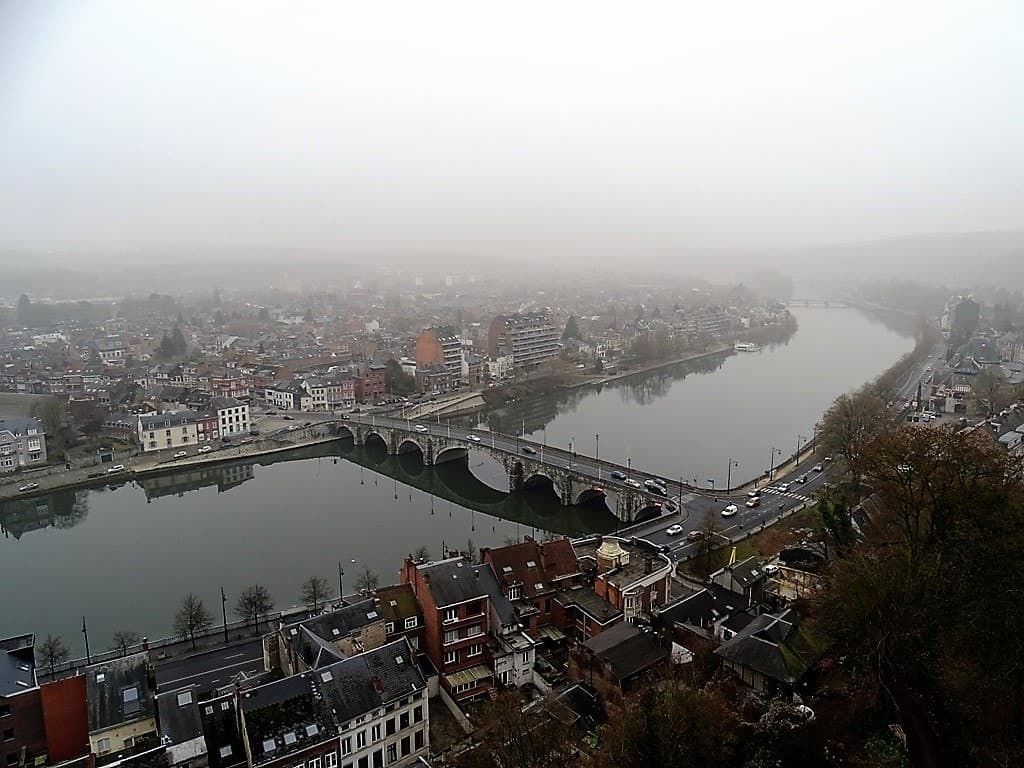 view of river Meuse from the Ciradel of Namur