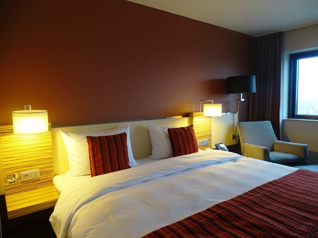 our executive room at the Mövenpick Hotel Amsterdam