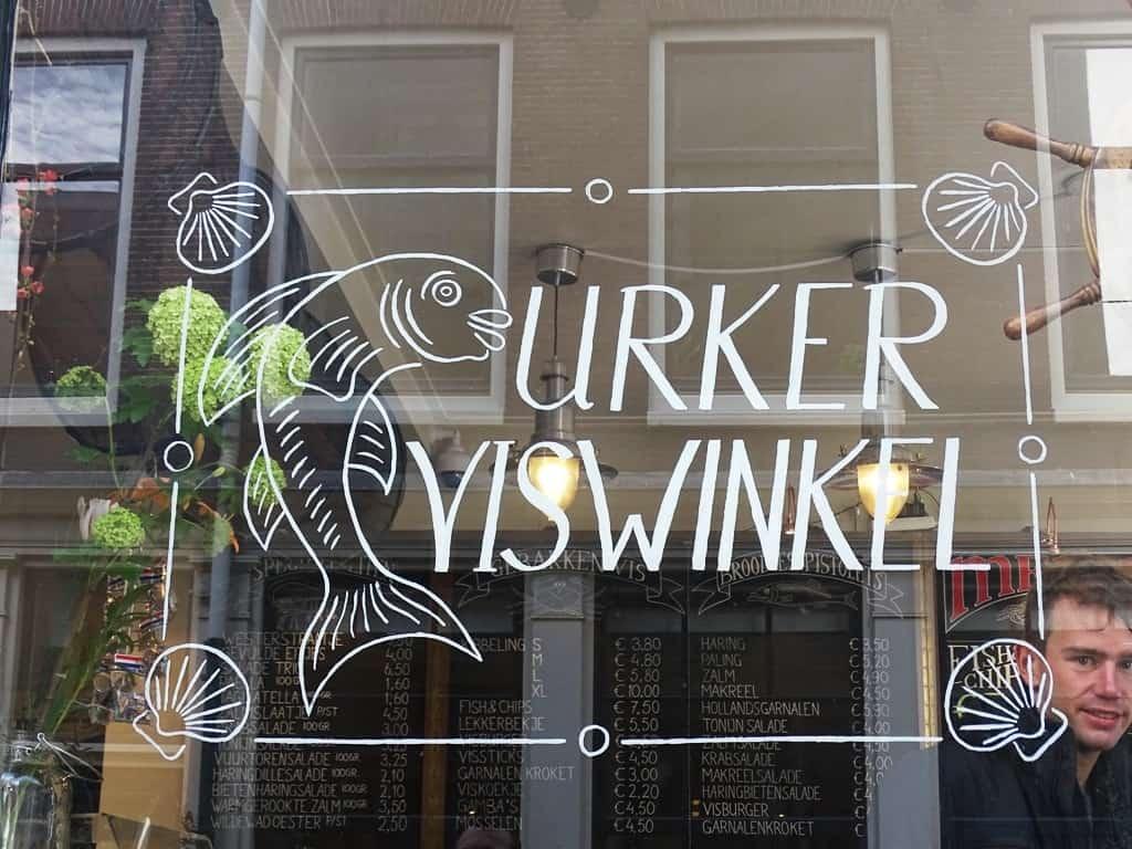 Urker Viswinkel fish shop in Jordaan