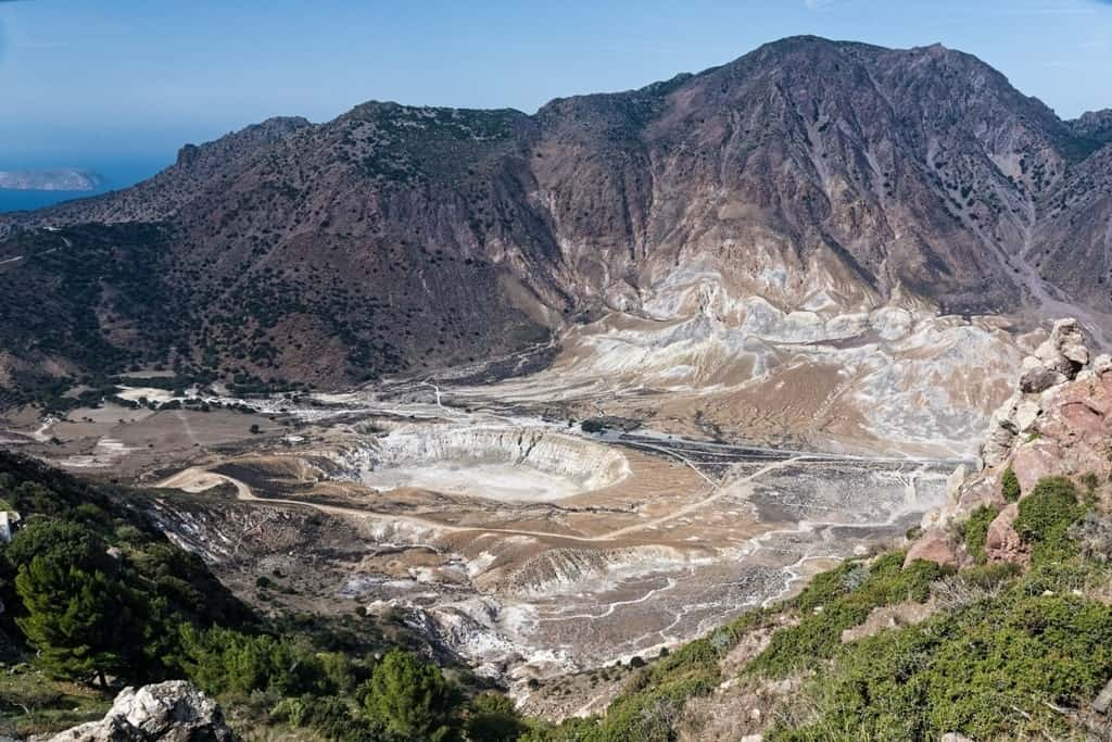 the active volcano in Nisyros island, things to do in Kos