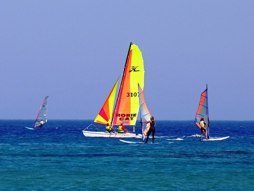 Wind Surfing in Kefalos beach