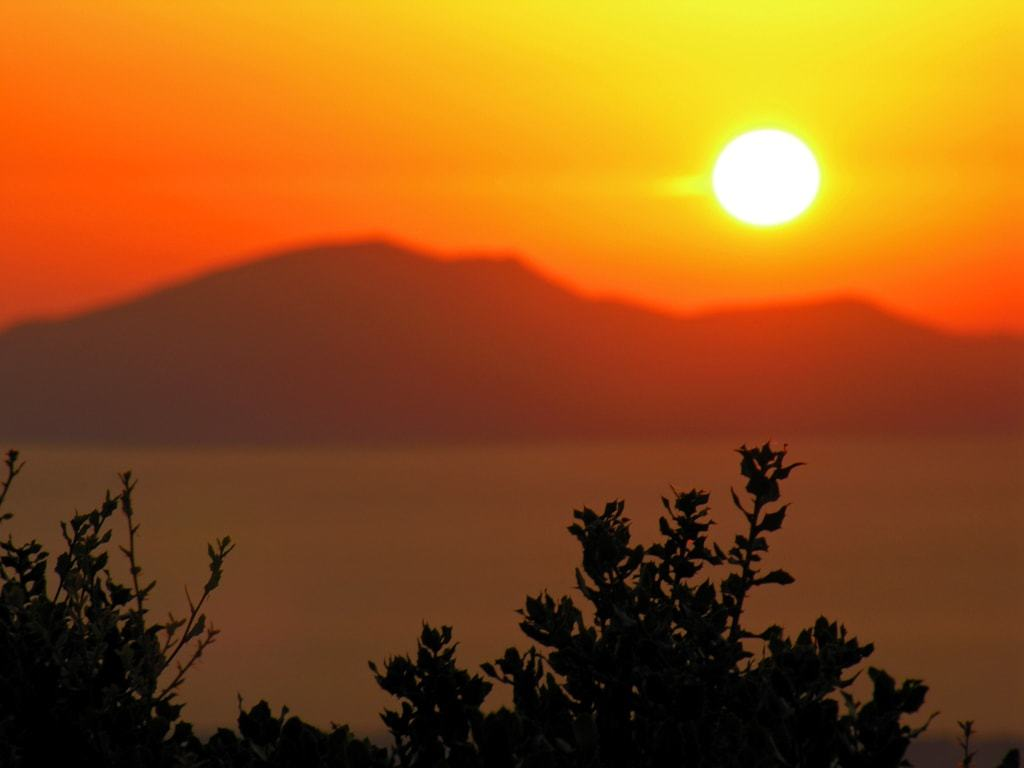 sunset from Zia Village - things to do in Kos