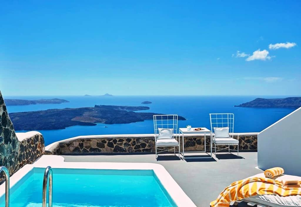top 10 santorini hotels with private pool. Black Bedroom Furniture Sets. Home Design Ideas