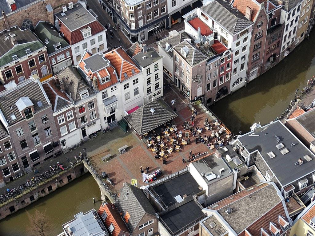 The view of the canals from Dom Tower - things to do in Utrecht