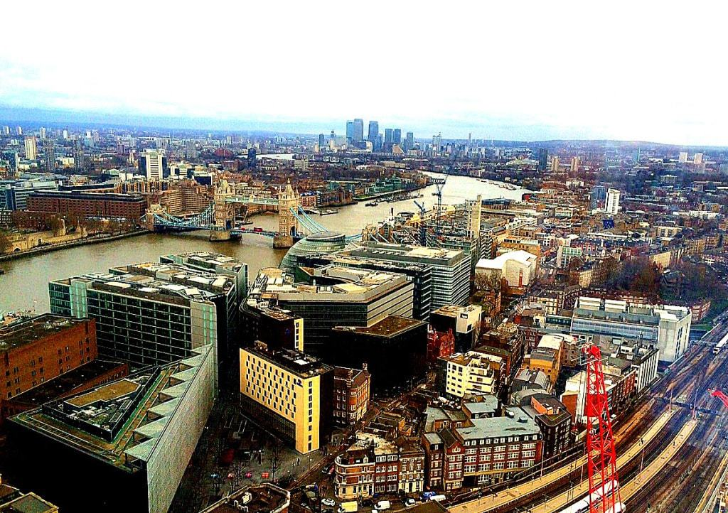 View from the Shard - Things not to do in England