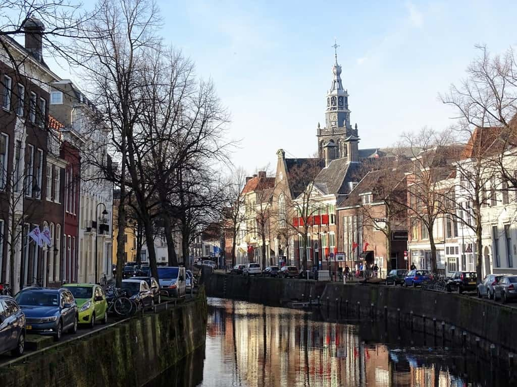 canals in Gouda, Netherlands