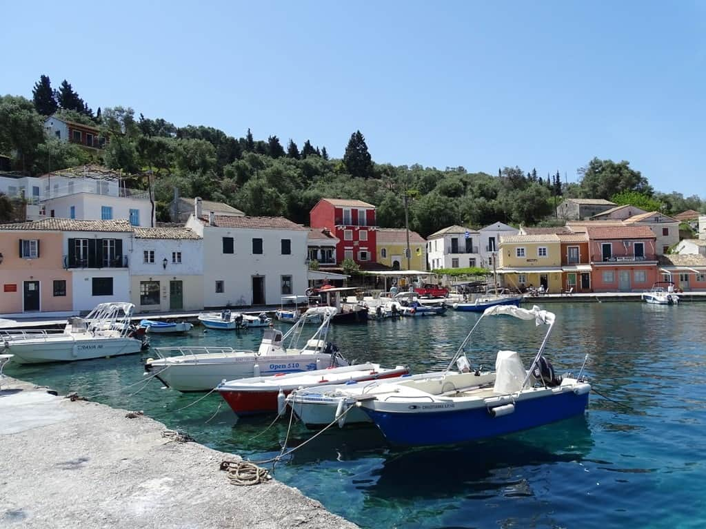 Loggos village in Paxos Island