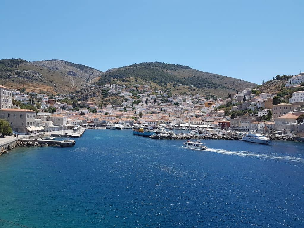 The view from the bastions in Hydra